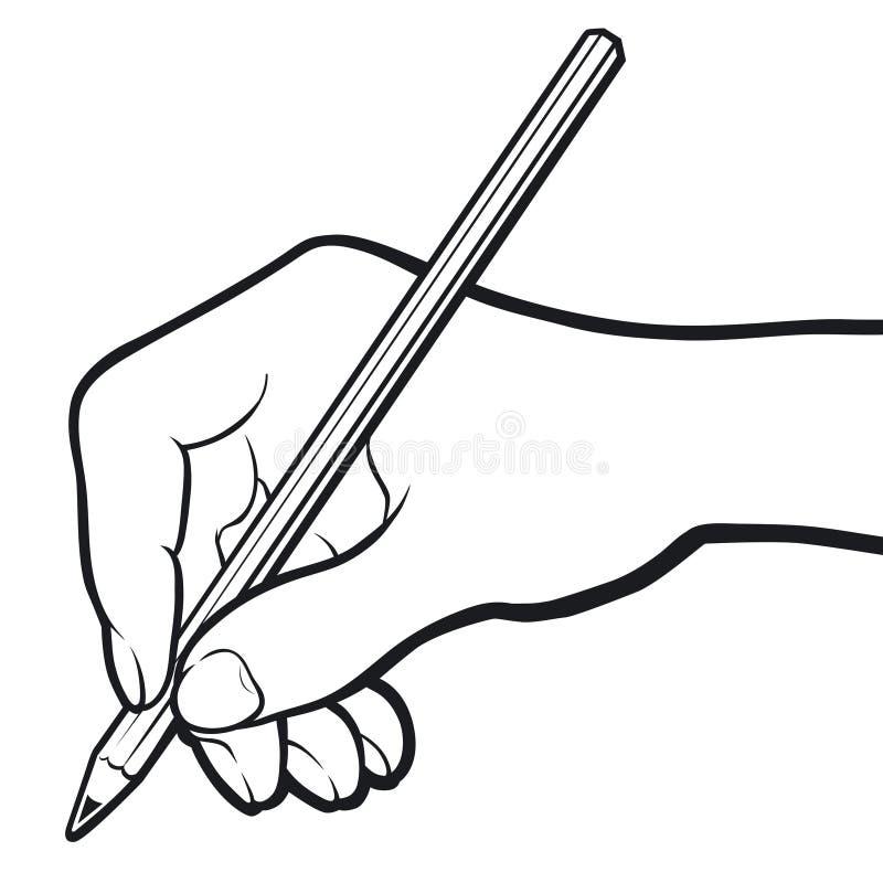 b&W de la mano libre illustration