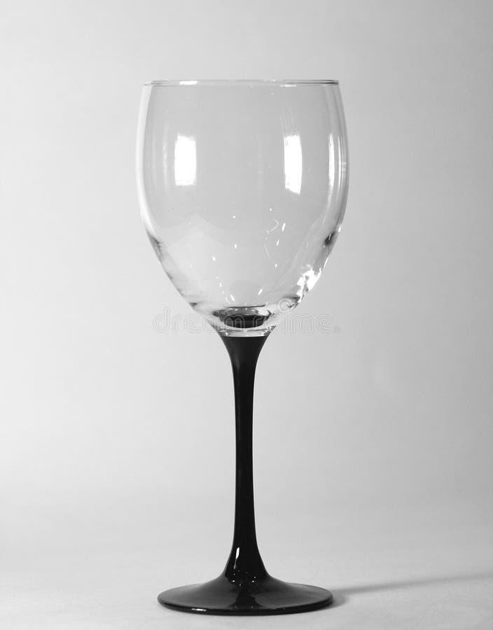 B&W - het Glas van de Wijn stock afbeelding