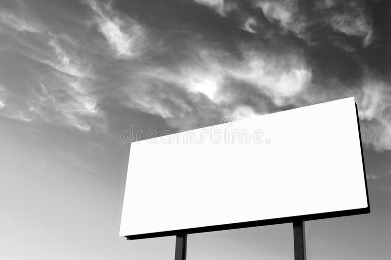 B&W - Quadro de avisos branco fotografia de stock royalty free