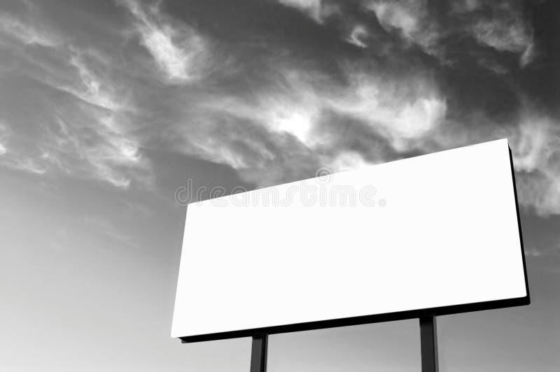 B&W - Tabellone per le affissioni bianco fotografia stock libera da diritti