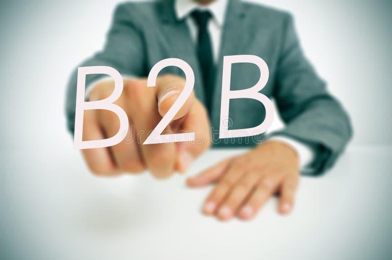 B2B, дел-к-дело стоковое фото