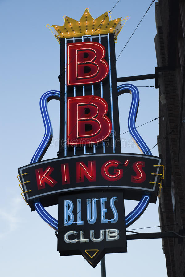 B.B. Сини Клуба короля стоковое изображение rf