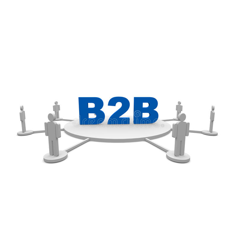 B2b stock illustratie