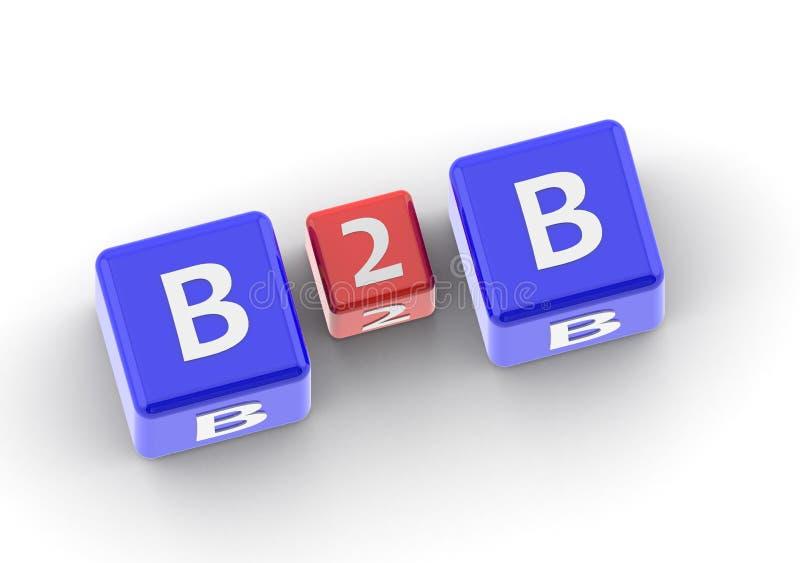 B2B ilustração stock