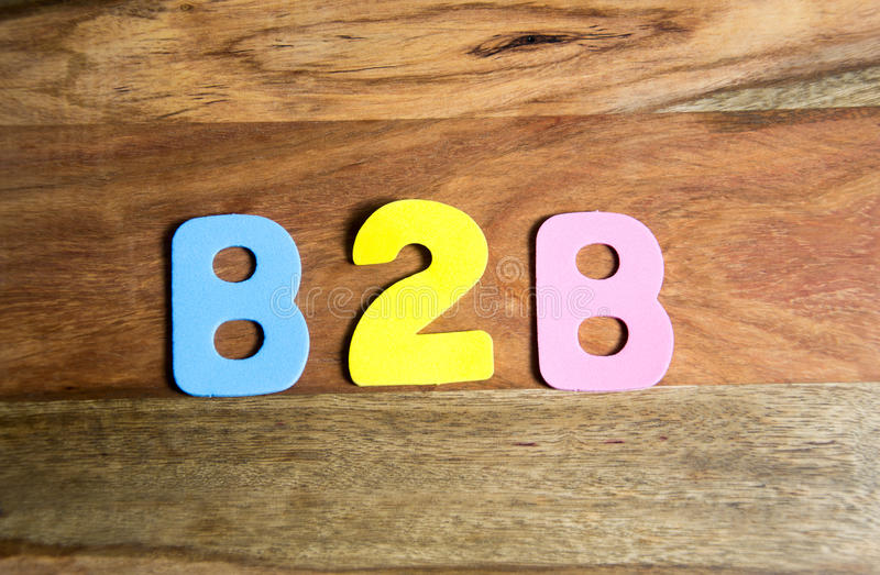B2B royaltyfri fotografi