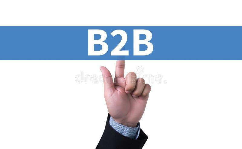 B2B affär till affären royaltyfria bilder