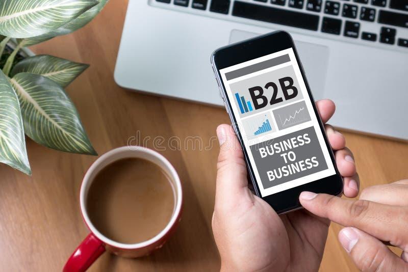 B2B affär till affären royaltyfri fotografi