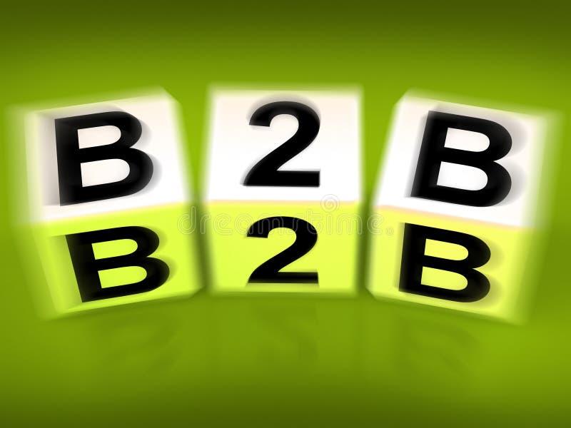 B2B blocca il commercio o la vendita di affari delle esposizioni royalty illustrazione gratis