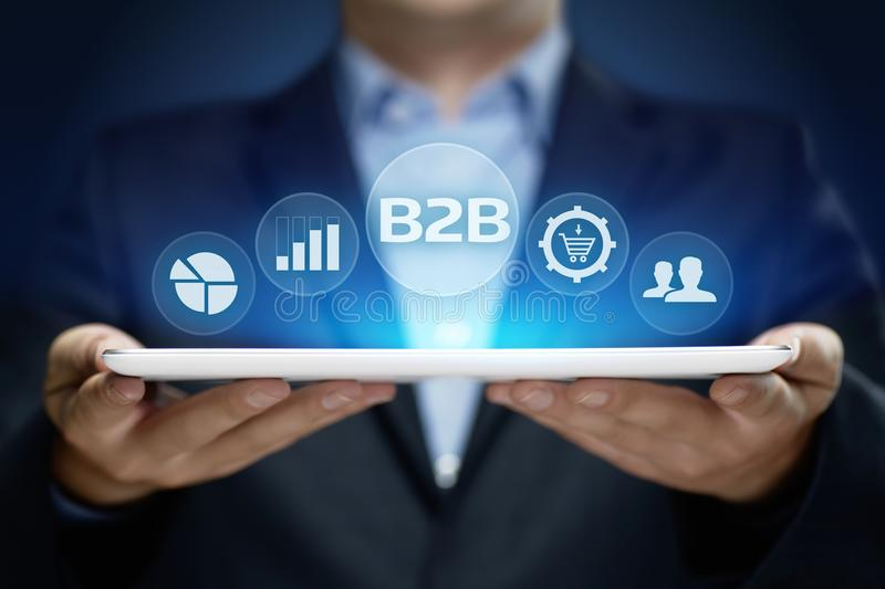 B2B Business Company Commerce Technology Marketing concept.  stock photos