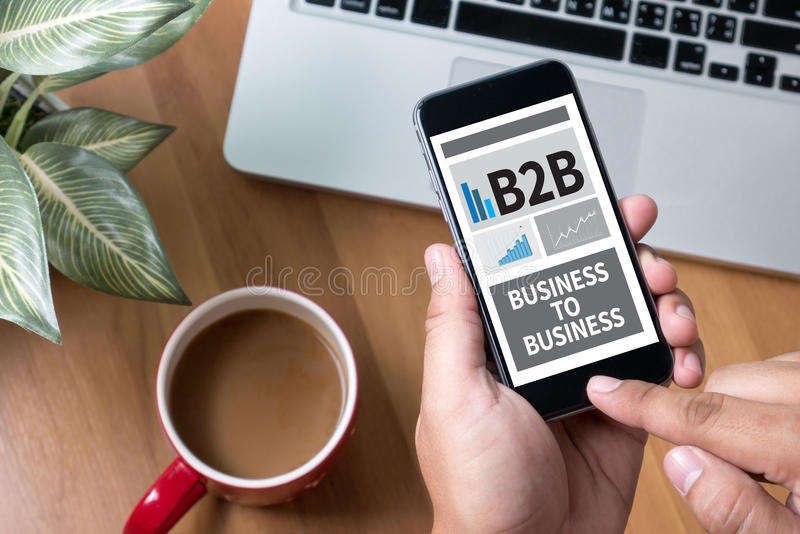 B2B BUSINESS TO BUSINESS royalty free stock photography