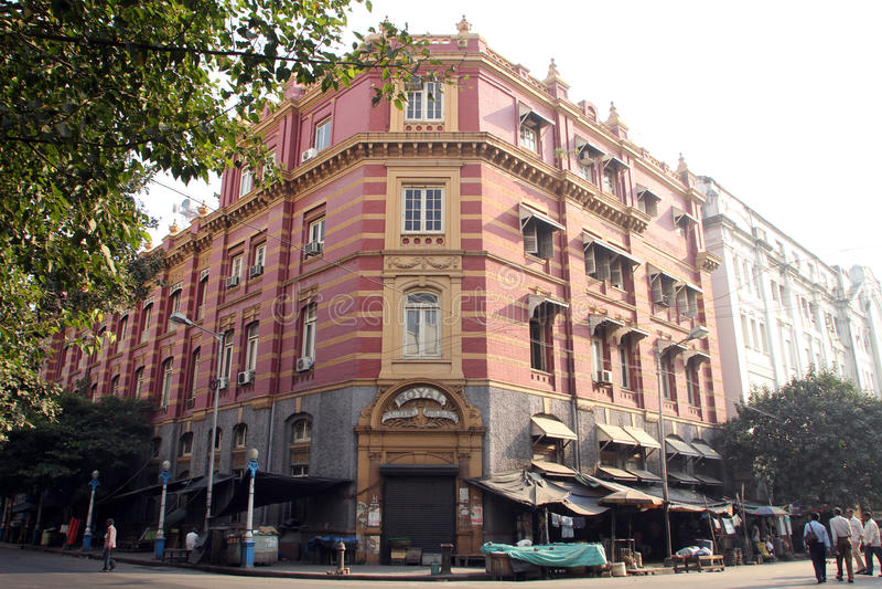 B.B.D. Bagh - the business center of Calcutta. / Kolkata, India on November 25, 2012 stock photo