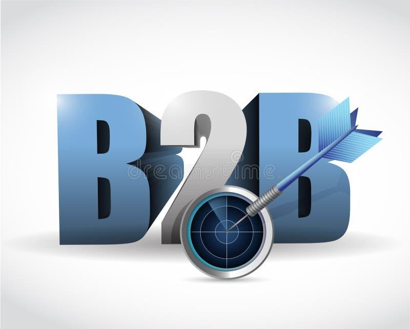 B2b de illustratieontwerp van het radardoel royalty-vrije illustratie