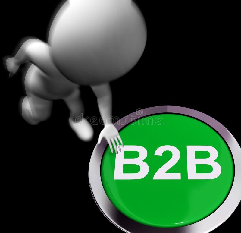 B2B drückte Show-Personengesellschaft oder Abkommen vektor abbildung