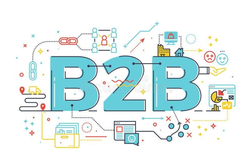 B2B: Geschäft zum Geschäft, Wortillustration lizenzfreie abbildung
