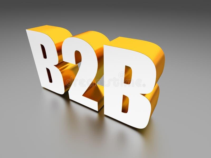 B2B-Geschäft zum Geschäftszeichen stockfotografie