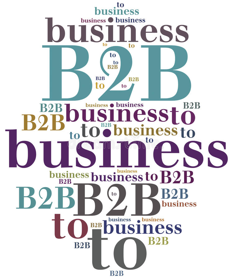 B2B Zaken aan zaken royalty-vrije illustratie
