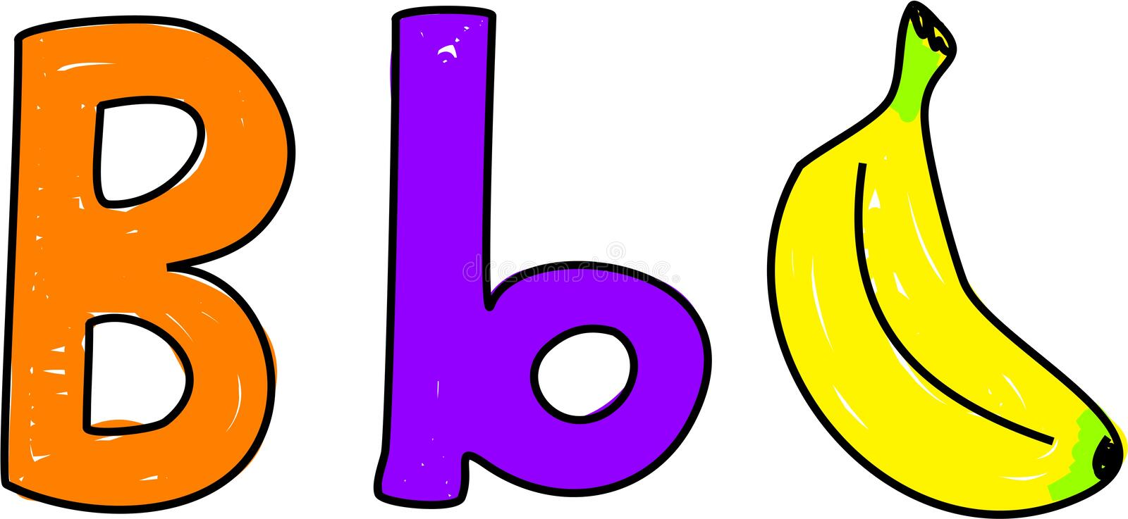 Download B is for banana stock vector. Image of pronunciation, aids - 1141057