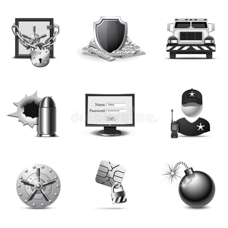 b banka ikon ochrony serie w ilustracja wektor