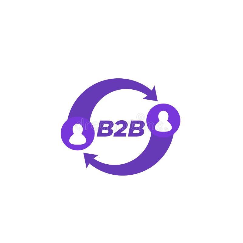 B2B, biznes biznes royalty ilustracja