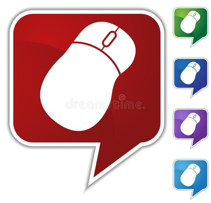 Download Bąbla myszy ustalona mowa ilustracja wektor. Obraz złożonej z zakończenie - 10059751