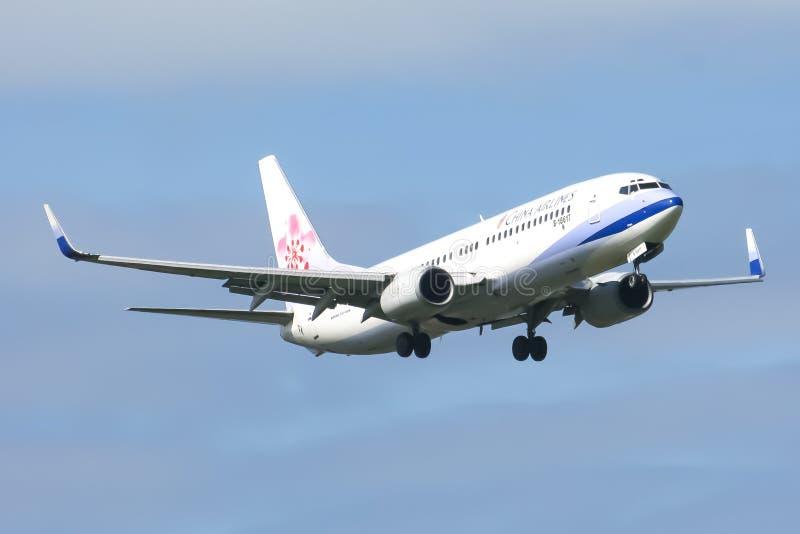 B-18617 Boeing 737-800 van de luchtvaartlijn van China stock afbeeldingen