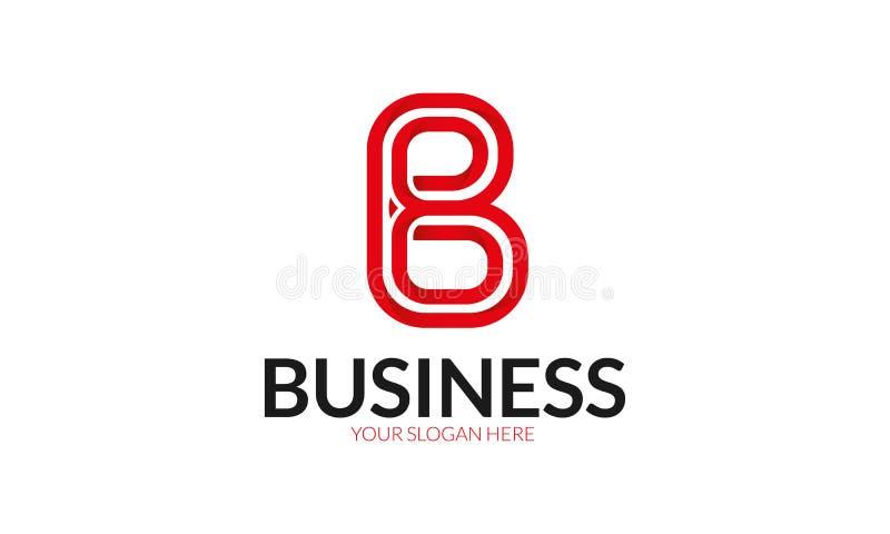 B-bokstavslogo stock illustrationer