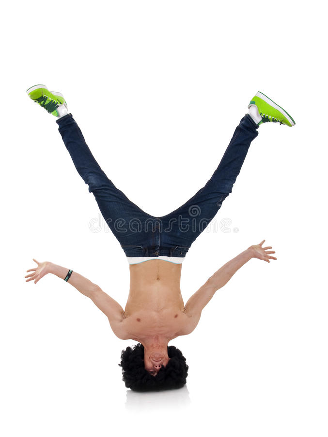 Download B-boy Freeze On Head Royalty Free Stock Photos - Image: 13963938