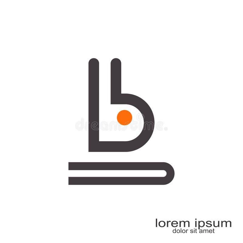 B brief Logo Design vector illustratie