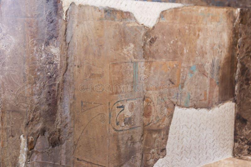 B C a coloré le hall au temple de Karnak - Egypte image libre de droits