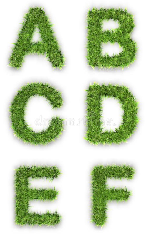Download A,b,c,d,e,f Made Of Green Grass Stock Illustration - Image: 18941174