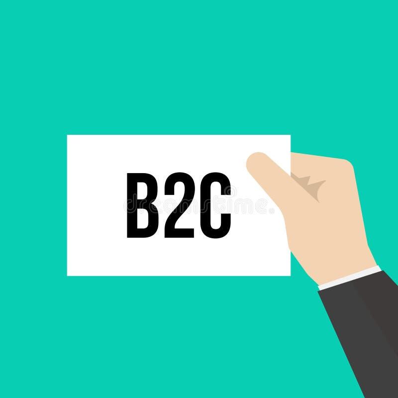 B2C för manvisningpapper text vektor illustrationer