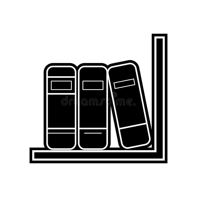 B?cherregalikone Element der Bildung f?r bewegliches Konzept und Netz apps Ikone Glyph, flache Ikone f?r Websiteentwurf und Entwi lizenzfreie abbildung