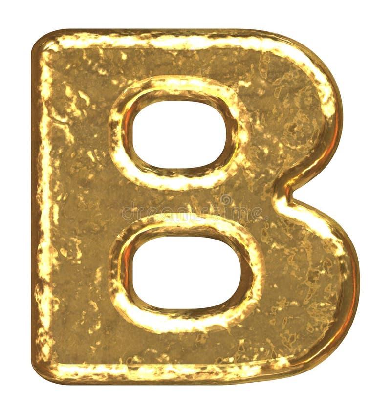 b chrzcielnicy złoty list ilustracja wektor