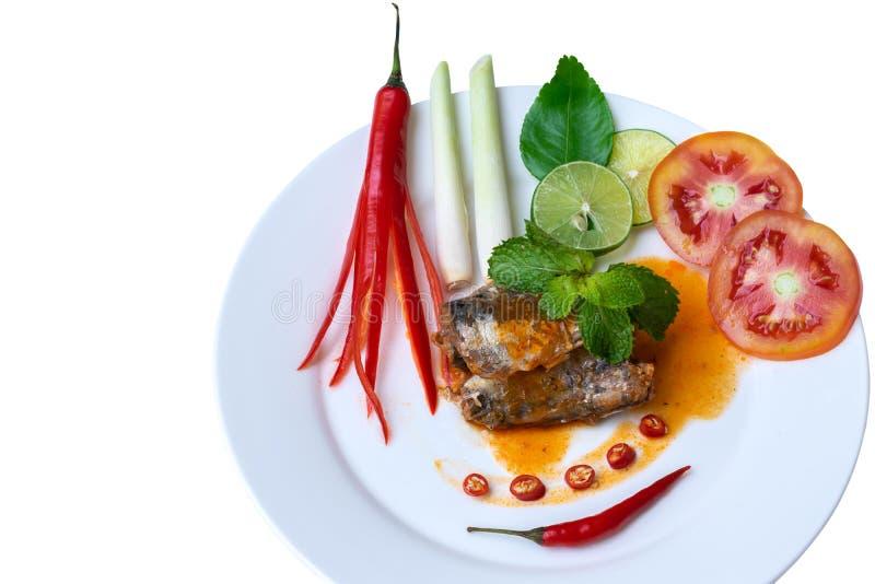 In B?chsen konservierter Fischsalat stockfoto