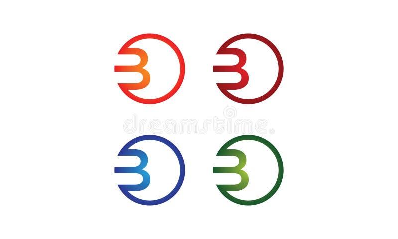 B-cirkellogo fotografering för bildbyråer