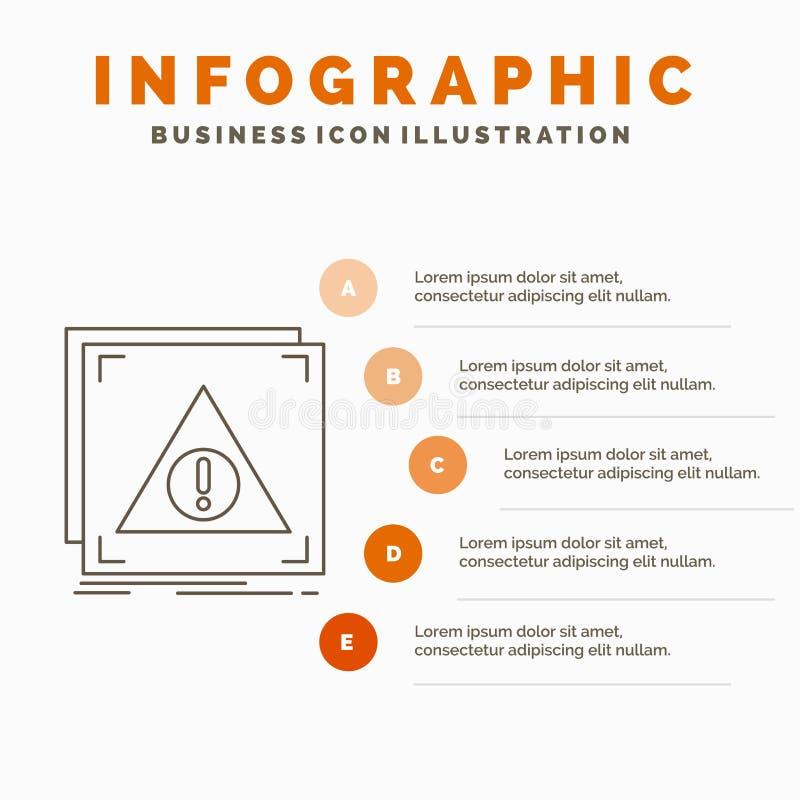 B??d, zastosowanie, serwer, ra?ny Infographics szablon dla strony internetowej i prezentacja, Zaprzeczaj?cy, Kreskowa Szara ikona royalty ilustracja