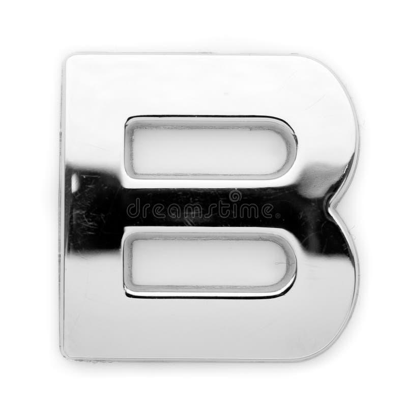 B - de brief van het Metaal stock foto's