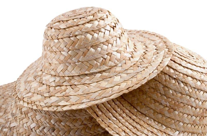 <b>De hoedeninzameling van het stro #2</b> royalty-vrije stock afbeelding