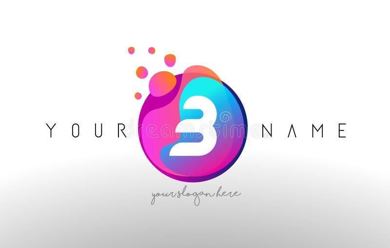 B Dots Letter Logo With Bubbles Un vector del diseño de letra con Vib ilustración del vector