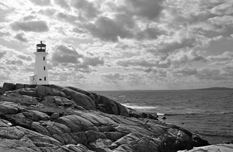 b dramatyczny latarni morskiej niebo w obrazy stock