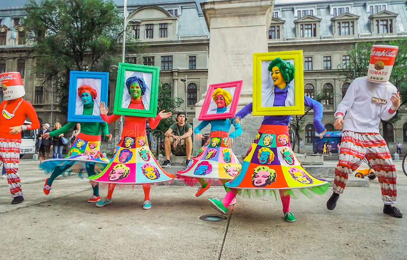 B-FIT in the Street, Bucharest 2016. International festival of street theater B-FIT in the Street from Bucharest, Romania. Festival is organized by Arcub in the stock image