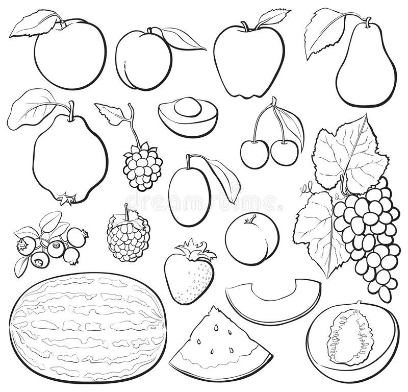 B Fruit Ustalony W Obraz Stock