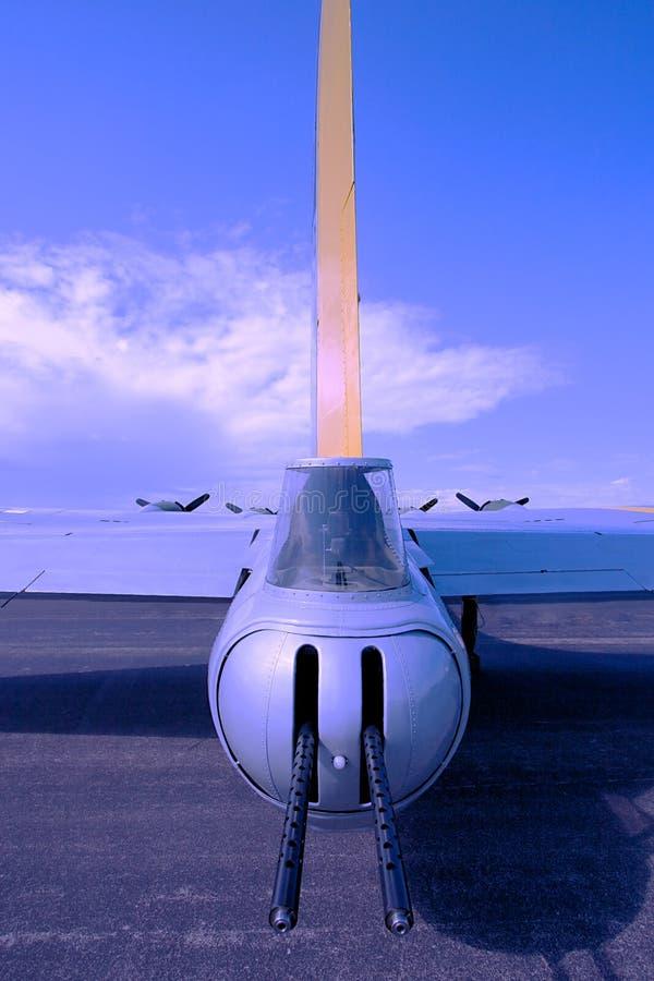 B-17G WW II bombowiec która latał w Europa obrazy royalty free