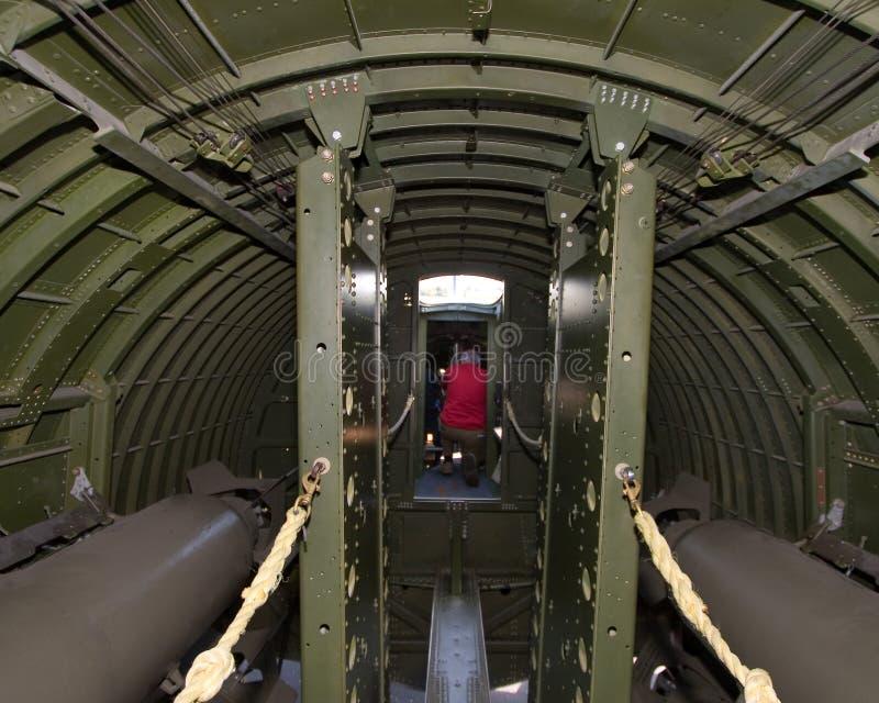 B-17G WW II bombowiec która latał w Europa fotografia stock