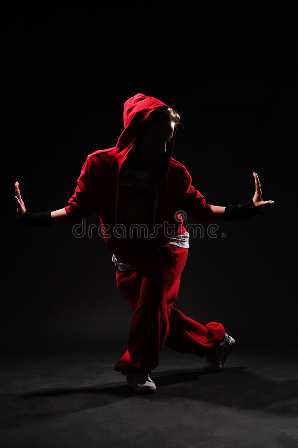 B-girl dancing royalty free stock images