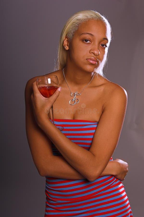 <b>Het toevallige Meisje van de Partij</b> stock foto