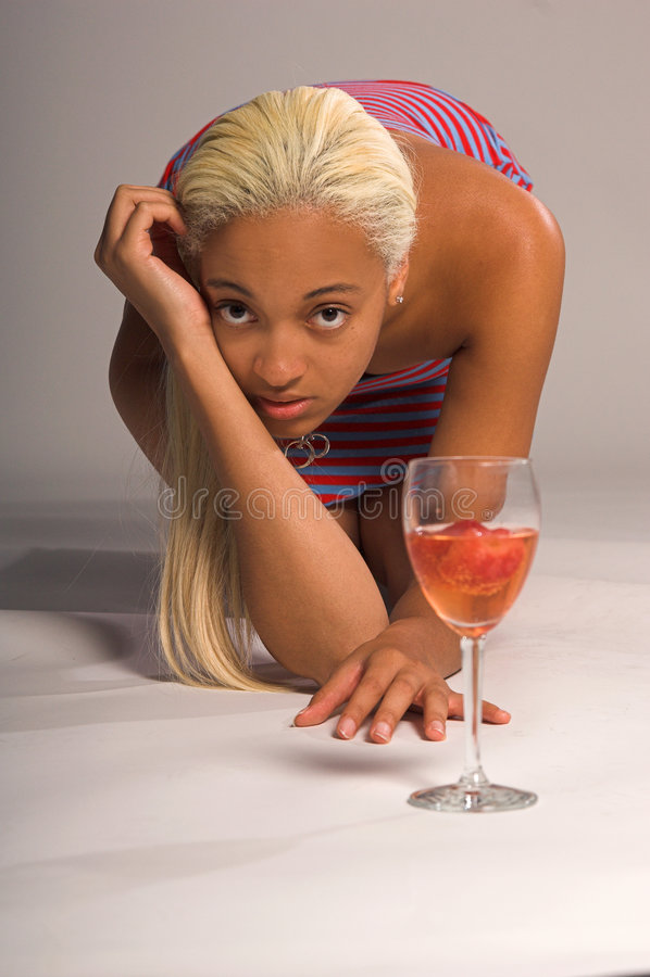 <b>Het toevallige Meisje van de Partij</b> stock afbeelding