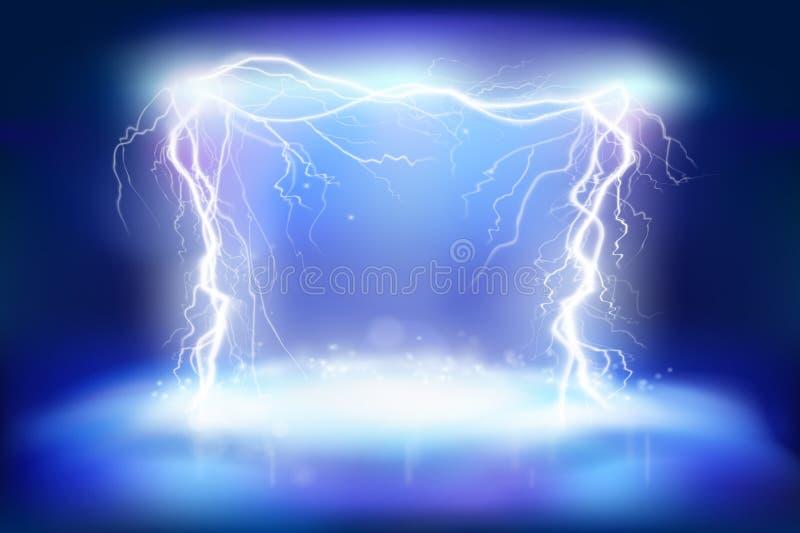 B?hneneffekte Elektrische Energie Hitzebeleuchtung Auch im corel abgehobenen Betrag lizenzfreie abbildung