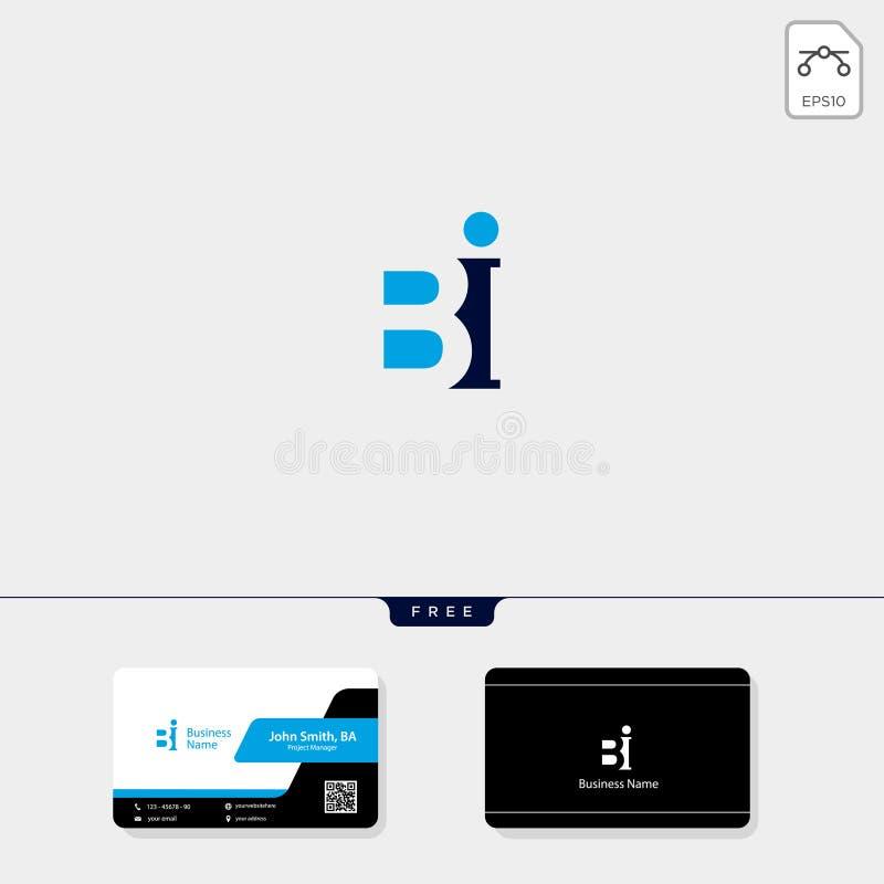 B inicial, el BB o el ejemplo del vector de la plantilla del logotipo del concepto del BI, liberan su diseño de la tarjeta de vis ilustración del vector