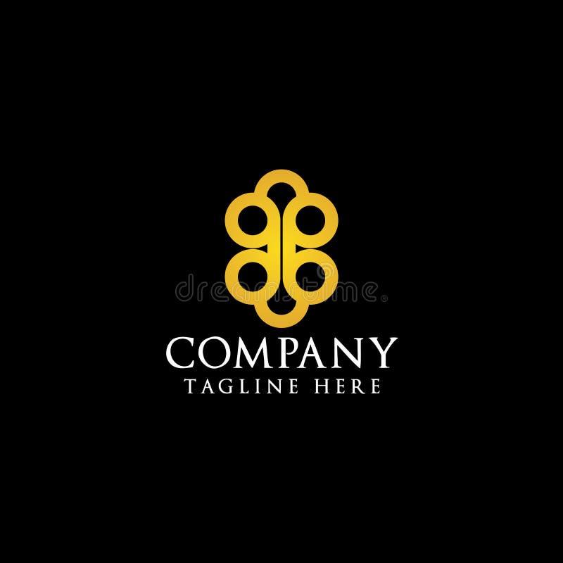B initial Logo Design Inspiration illustration libre de droits